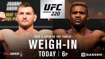 UFC 220 Live Stream: Watch Weigh-Ins Online