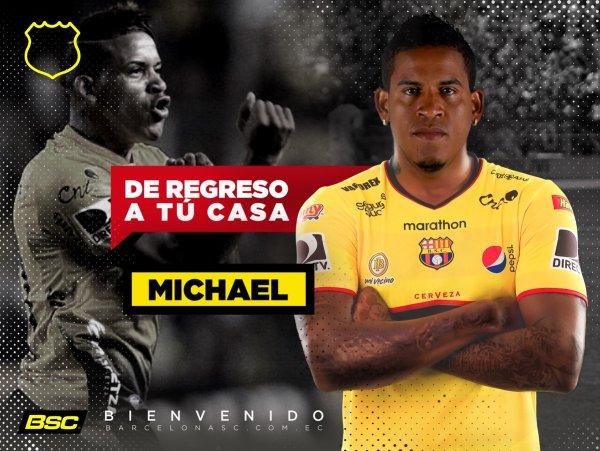 Michael Arroyo oficialmente es jugador del Barcelona S.C.
