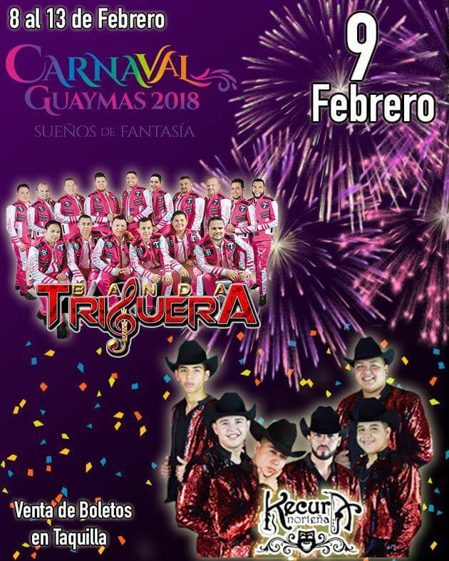carnaval guaymas 2018 elenco