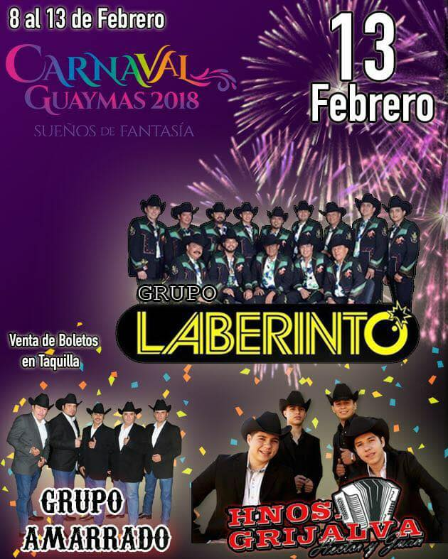 carnaval guaymas 2018