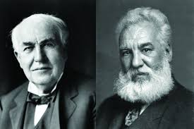 Image result for Thomas Edison and Alexander Graham Bell from the Oriental Telephone Company.