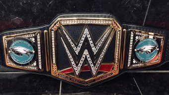 LOOK: Philadelphia Eagles Receive WWE Championship Belt