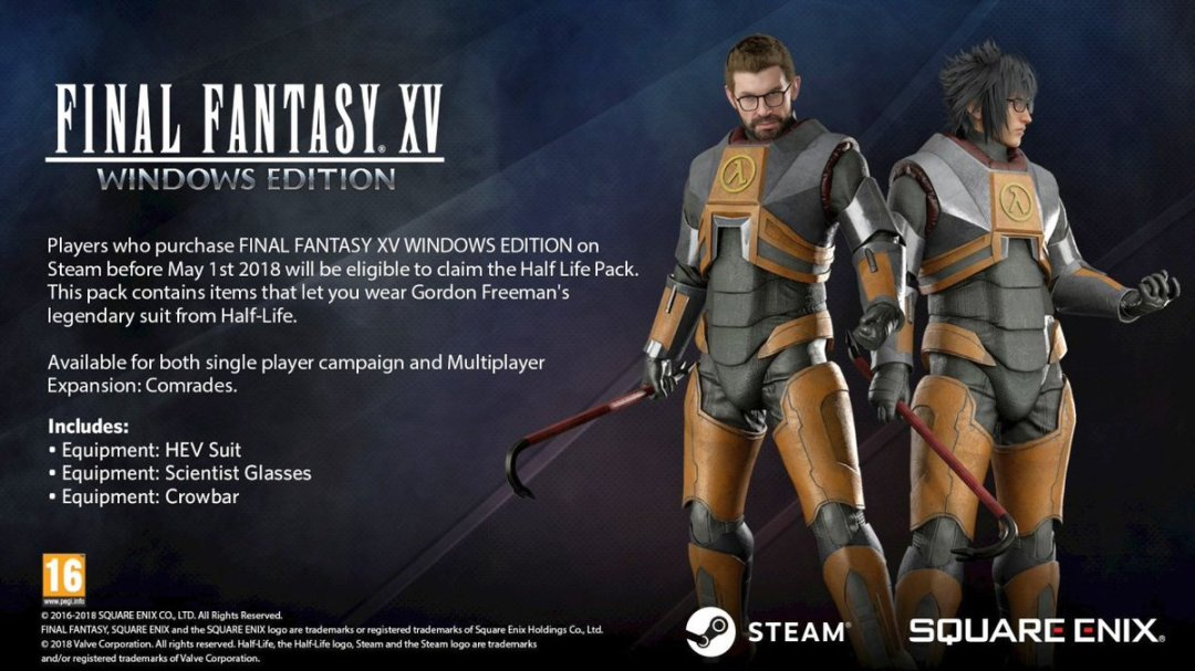 Final Fantasy XV Windows Edition Pre-Order Bonus