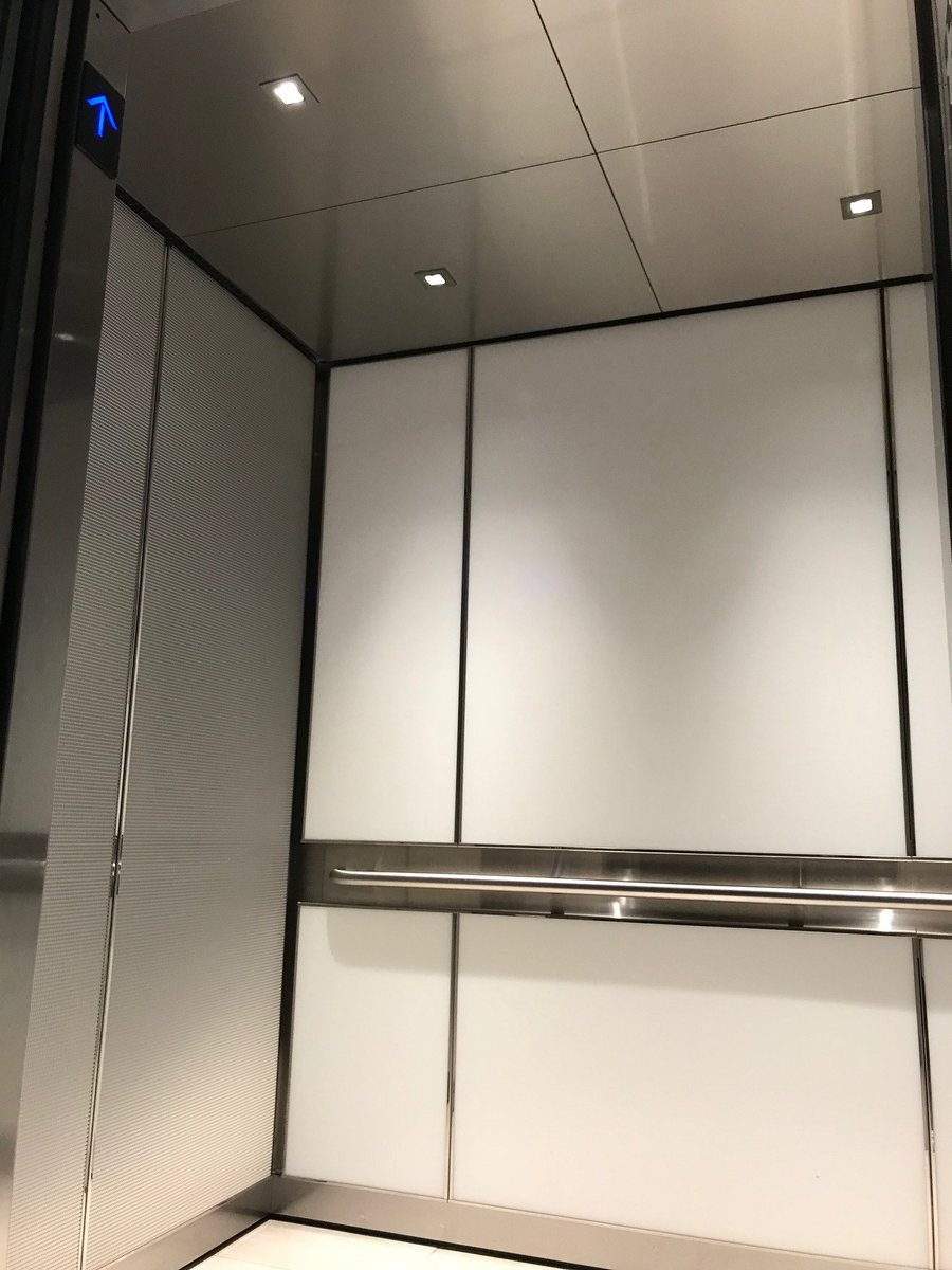 Draper Elevator Interiors on Twitter   30 Dalton Street Boston  MA         Custom elevator cab interiors   this design includes back painted glass  on the rear walls and architectural metal on the sides panels   customelevators