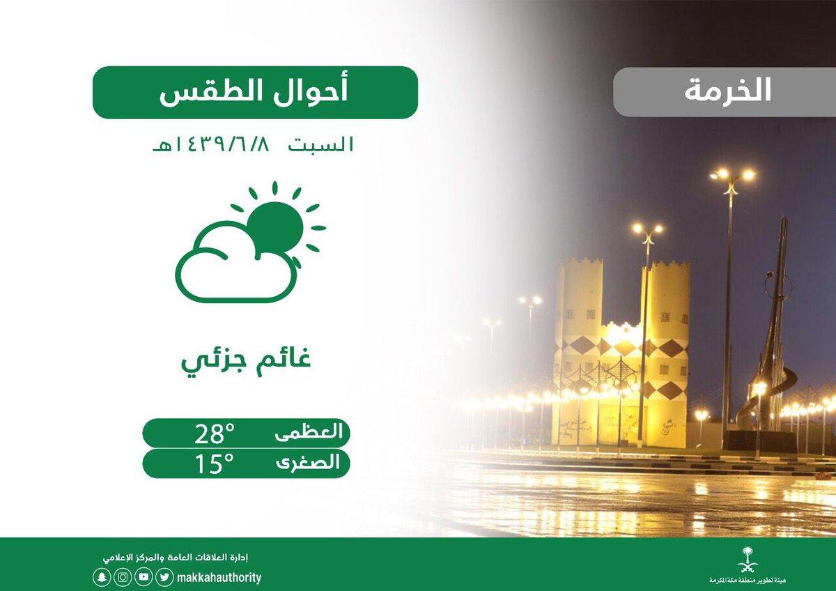 Uzivatel هيئة تطوير منطقة مكة المكرمة Na Twitteru حالة الطقس بـ