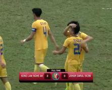 Video: Sông Lam Nghệ An vs Johor Darul Ta'zim