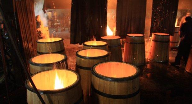 Image result for barrel toasting