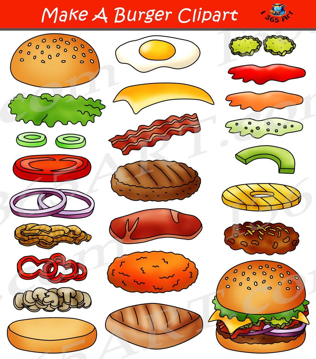 Clipart 4 School On Twitter Build A Burger Clipart