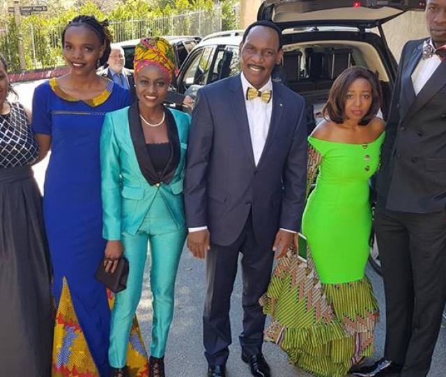 Kfcbatoscarsawards Dr Ezekielmutua The Hustle And Bustle At The Residence Of The Watu Wote Crew Moments Before Departure To Dolby Theatre For The 90th