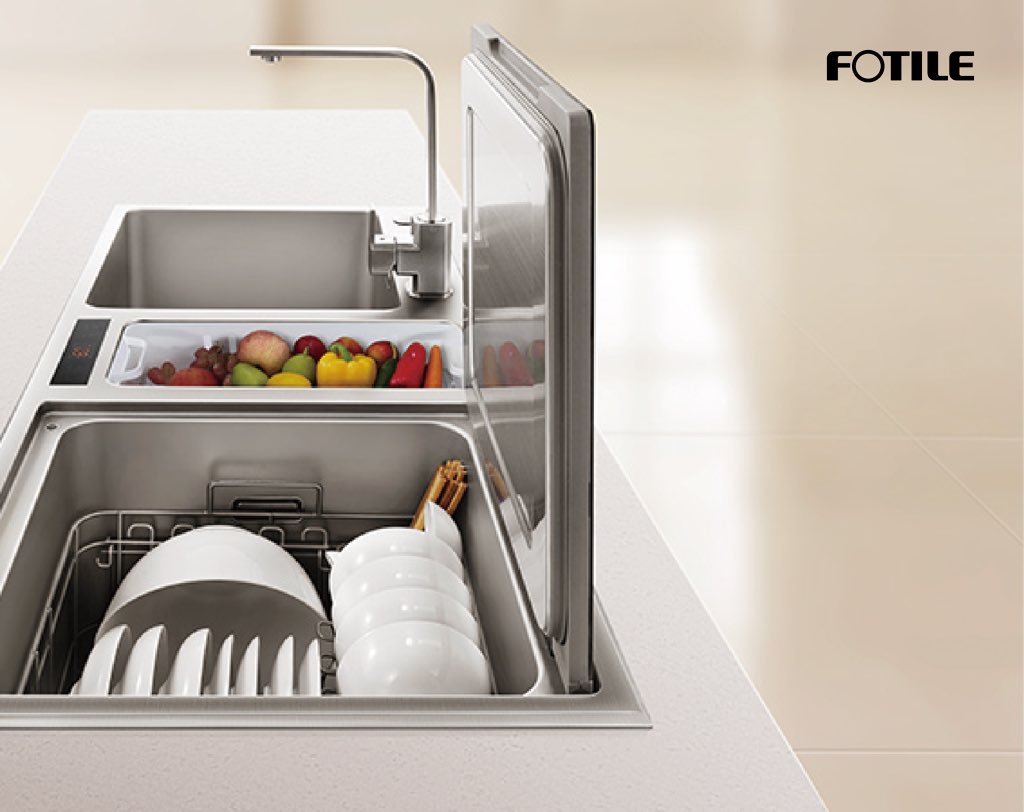 dishwasher vegetables cleaner sink