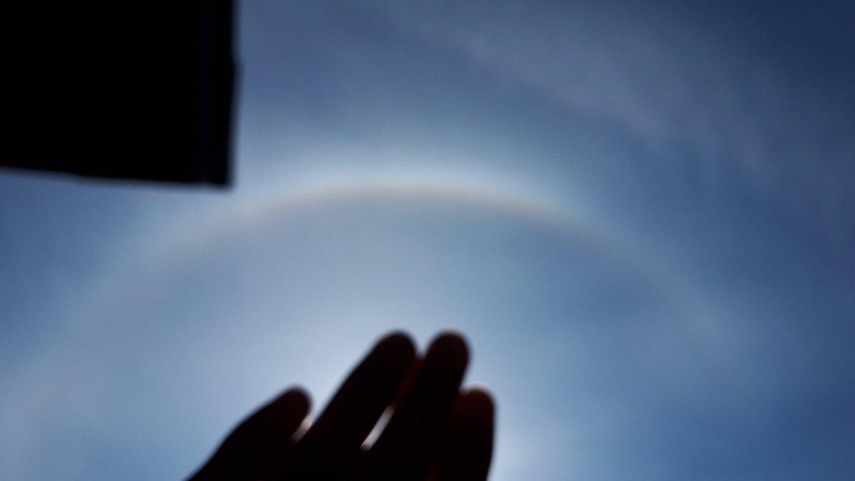 test ツイッターメディア - 太陽の周りに虹が出てた! https://t.co/xMCJosvP9W