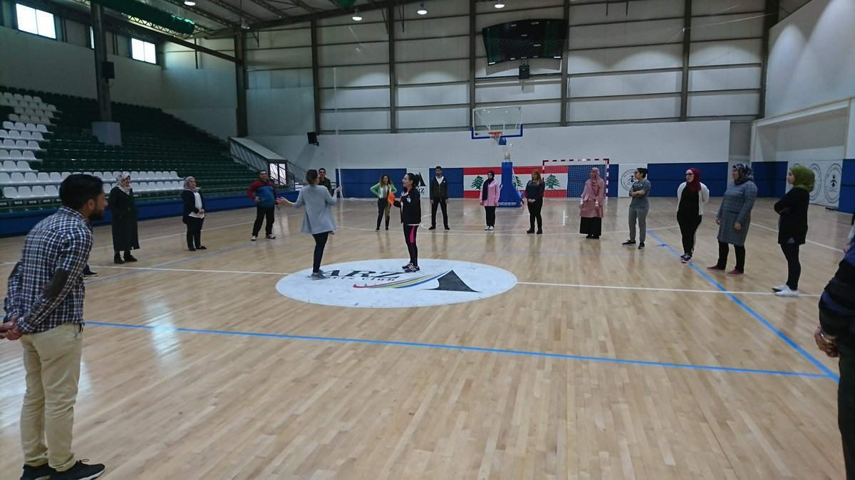 Great first day! Here is Lorik from @GOALSarmenia leading training on the #Creativity curriculum as part of the @ANERAorg Life Skills programme. Good day for @coachesacross and had @RightToPlayIntl & @sfw_tweets in attendance!