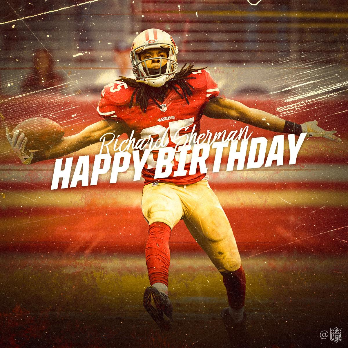 Nfl On Twitter Join Us In Wishing 49ers Cb Rsherman 25 A Happy Birthday
