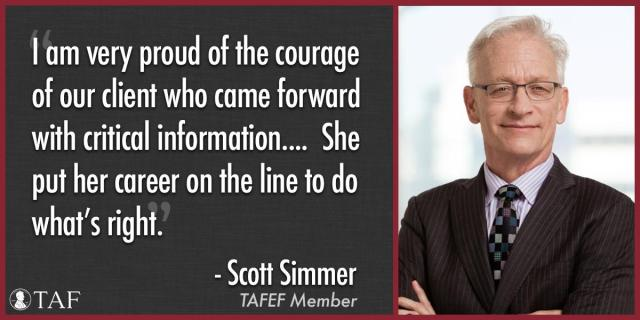 Image for the Tweet beginning: Congratulations to TAFEF member Scott