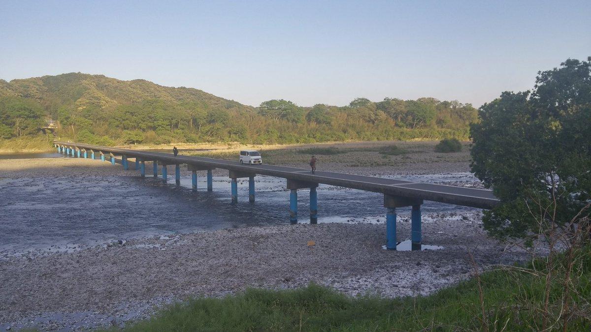 test ツイッターメディア - 高知県の四万十川に架かる佐田沈下橋になんとなく行ってみました。 欄干がない。沈む気がしない。 #四万十川 #沈下橋 https://t.co/1T1dkLlXkj
