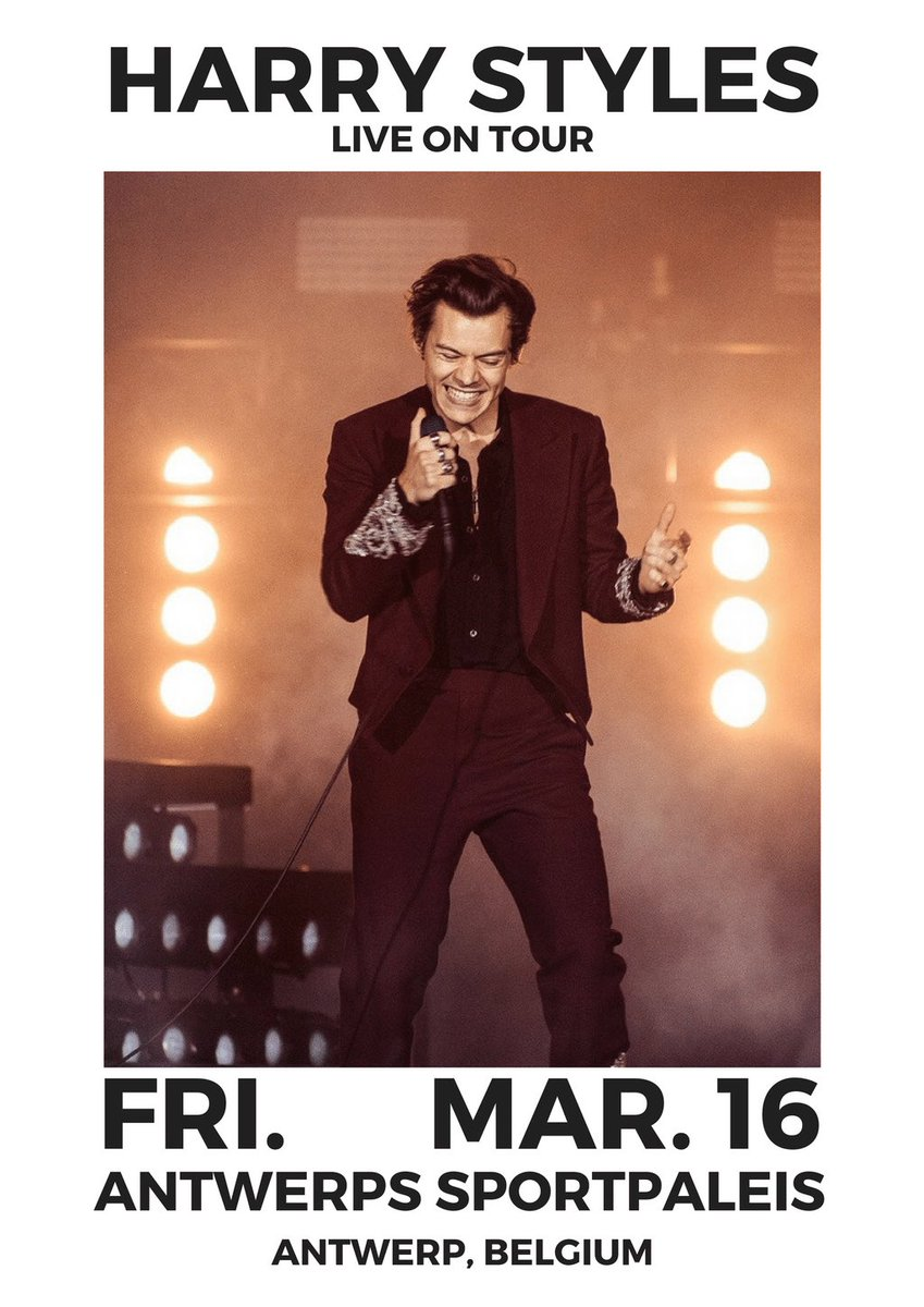 harry styles live on tour poster edits