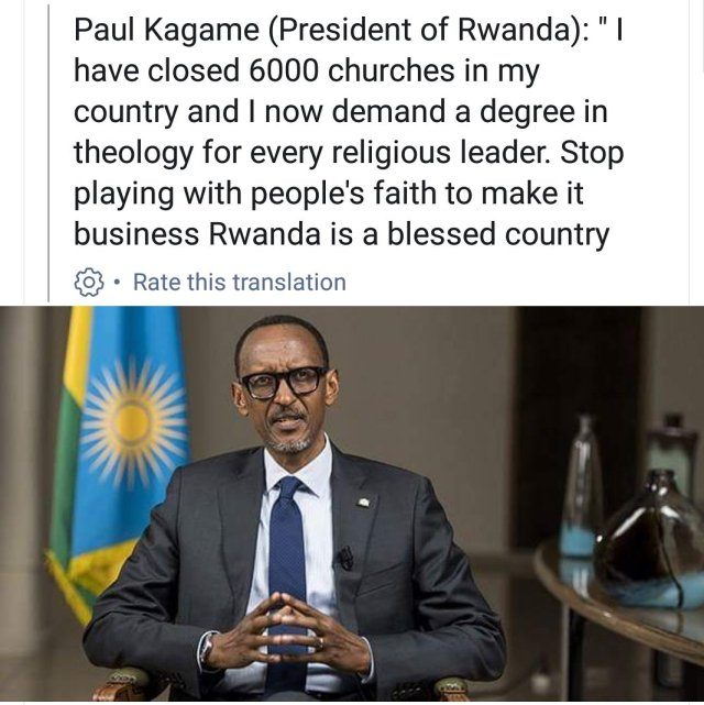 "TV AFRICA على تويتر: ""Paul Kagame has closed 6000 churches in Rwanda, is  this possible is Ghana? #tvafricagh… """