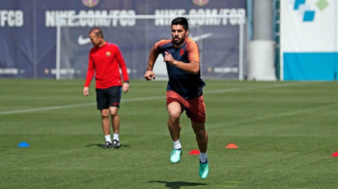 Image result for suarez in training