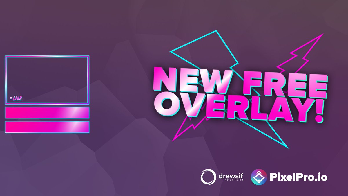 New Free Livestream Overlay On Pixelpro Io Inspired By Radical_heights Download For Free To Use On Your Stream Here