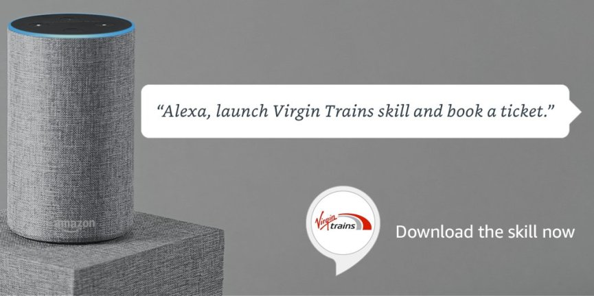 Image result for virgin trains alexa