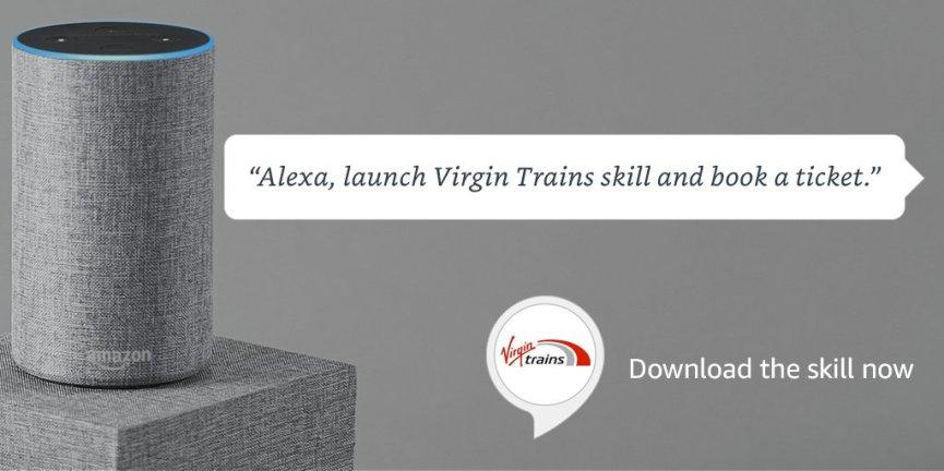 Image result for virgin trains alexa
