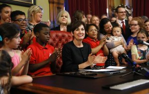 Image result for U.S.: Governor Reynolds signs law banning abortion at 6wks