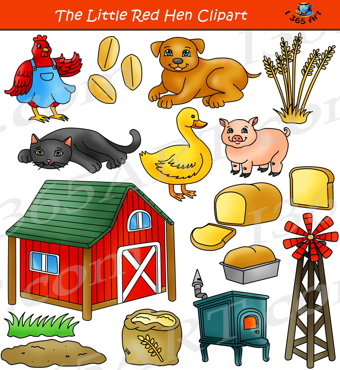 Clipart 4 School On Twitter The Little Red Hen Clipart