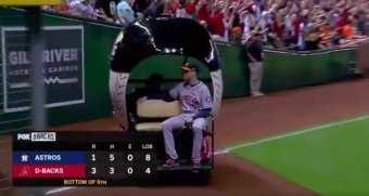 The Diamondbacks Bullpen Cart Was Finally Used In A Regular Season Game