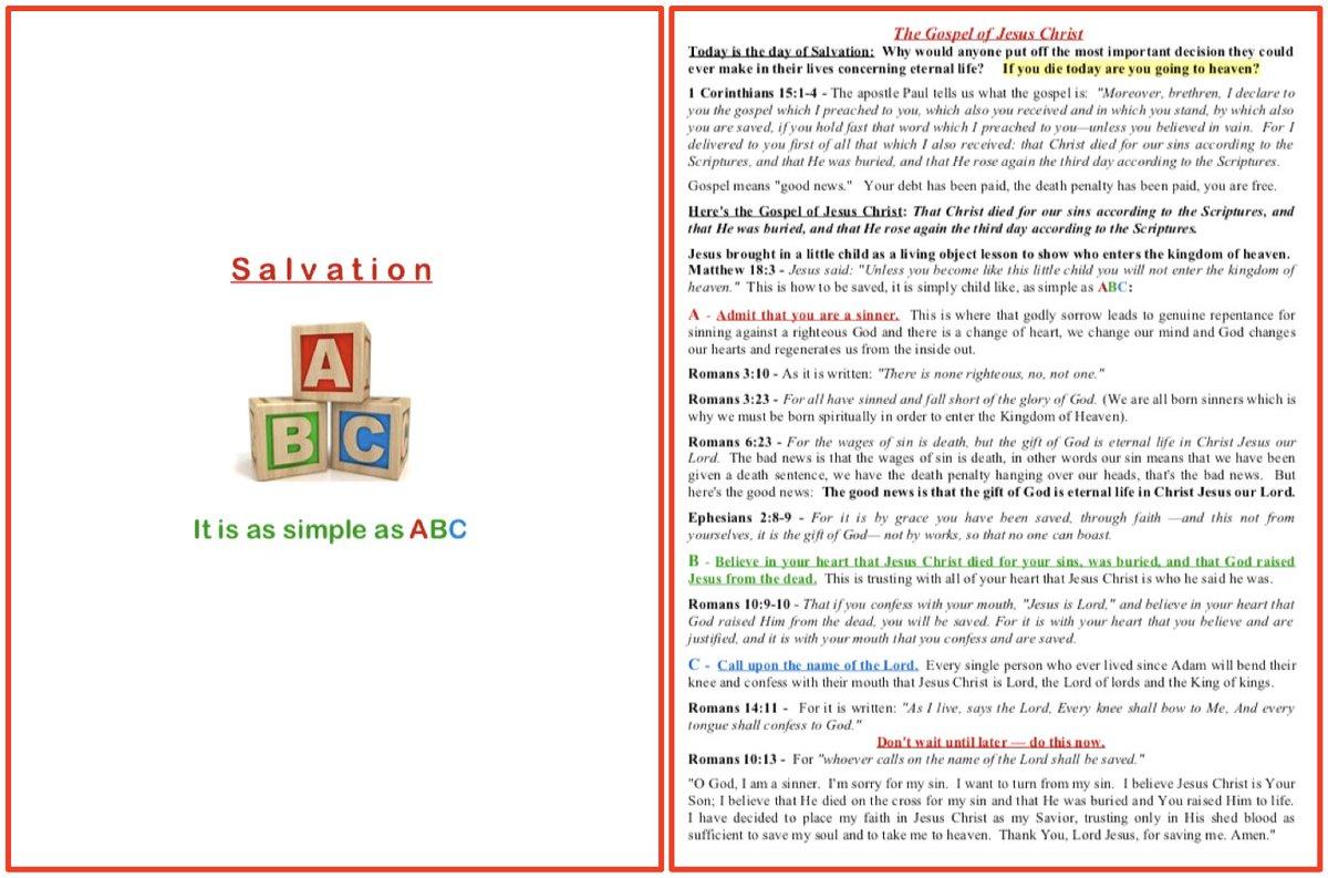 Selective Abc S Of Salvation Printable