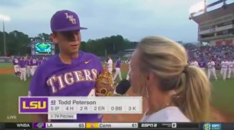 LSU Pitcher Lies To Coach About Hitting Bombs In High School To Get A Critical AB, Hits 2-Run Double
