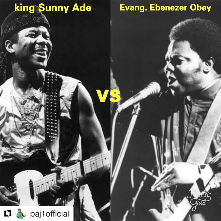 Image result for sunny ade and ebenezer obey perform together the repeated history of two rivals: chief ebenezer obey vs king sunny ade, davido vs wizkid THE REPEATED HISTORY OF TWO RIVALS: CHIEF EBENEZER OBEY VS KING SUNNY ADE, DAVIDO VS WIZKID DesdbiuX4AEub7W