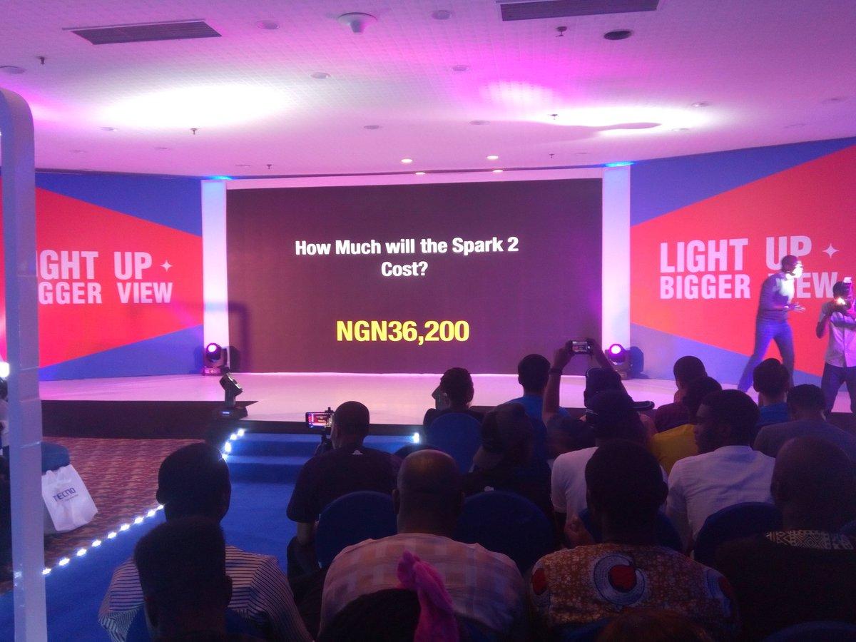 Features + Price Of  TECNO SPARK 2 , Nigeria