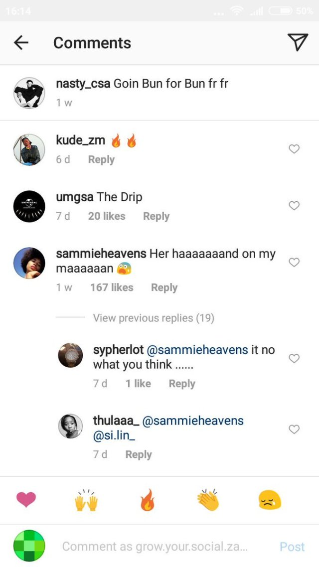 Nasty C Girlfriend React To Him Picture With Another Girl