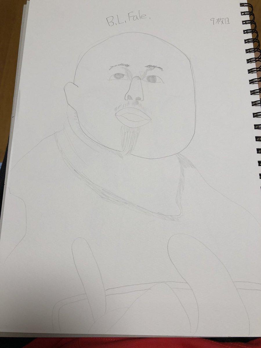 test ツイッターメディア - #新日レスラーお絵かき仲間 第6弾 ファレ選手描きましたー。いつになったらレベルが上がるでしょうか。色鉛筆がまだ返されてないのでまた鉛筆だけです。  まじで手抜きじゃなくて下手なだけなんです😭😭😭 https://t.co/TsksE6MWiB