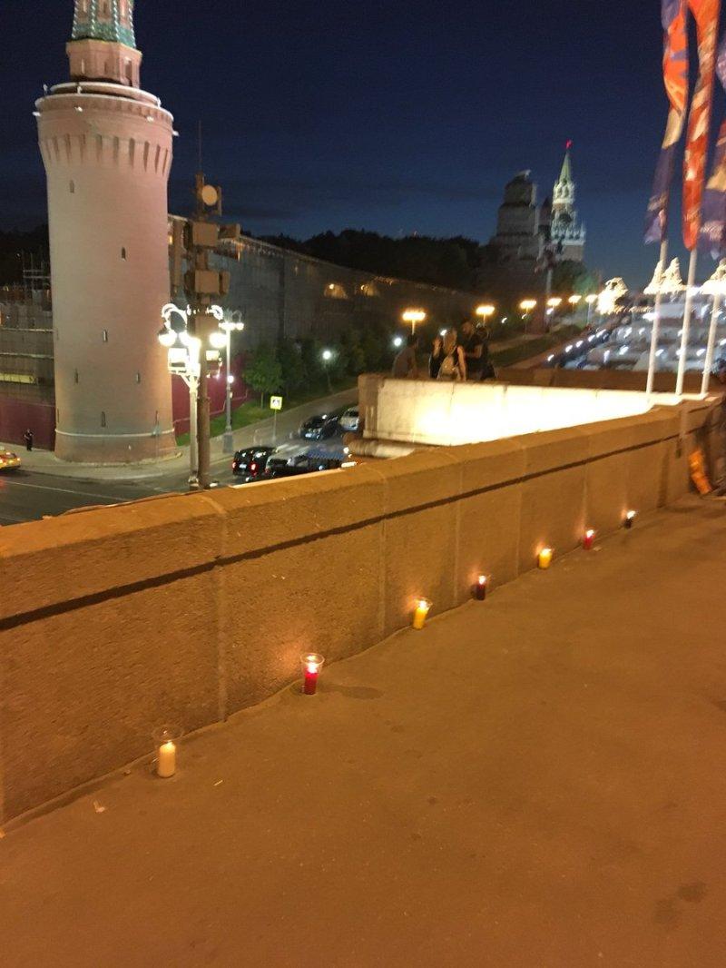 У центрі Москви вночі влаштували акцію на підтримку Сенцова
