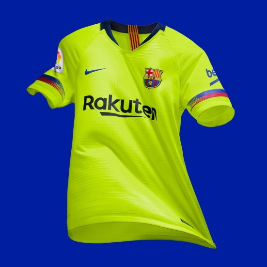 cb29bba0a33bd Camiseta suplente FC Barcelona 2018