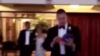 Gronk Spiked A Bills Hat At A Wedding And Danced All Over It
