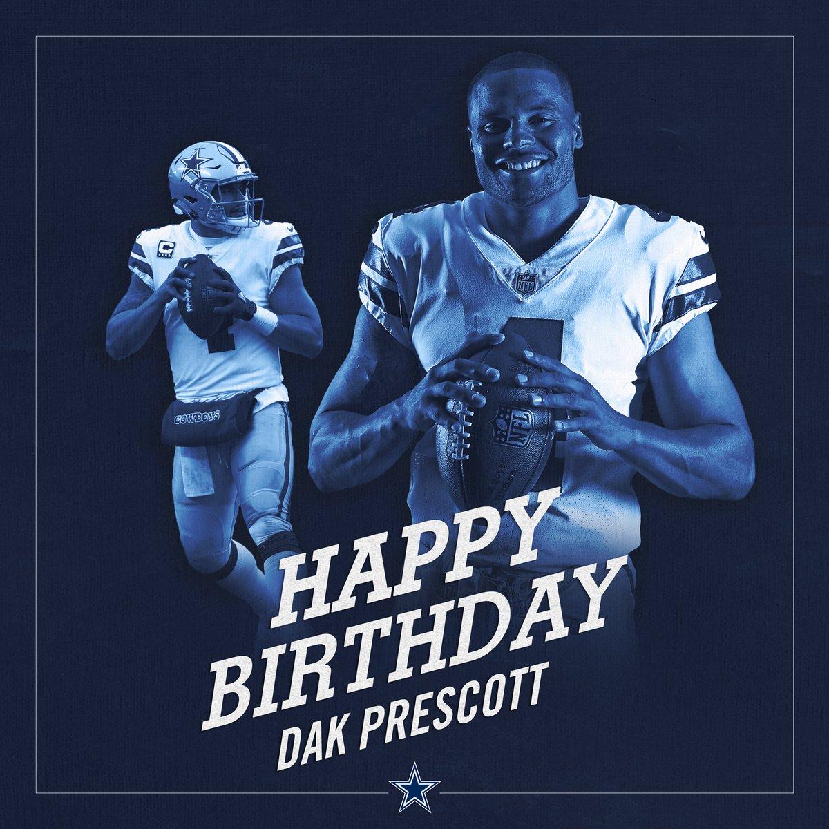 Dallas Cowboys On Twitter Cowboysnation Join Us In Wishing Dak A Happy Birthday