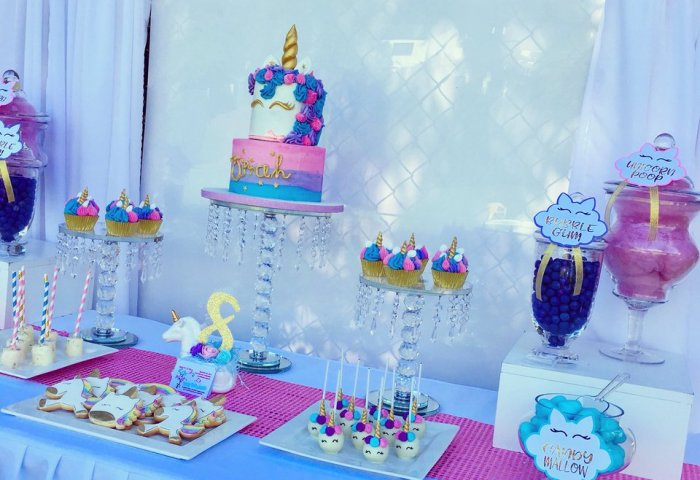 Every Little Detail On Twitter Yesterdays Unicorn Dessert Table