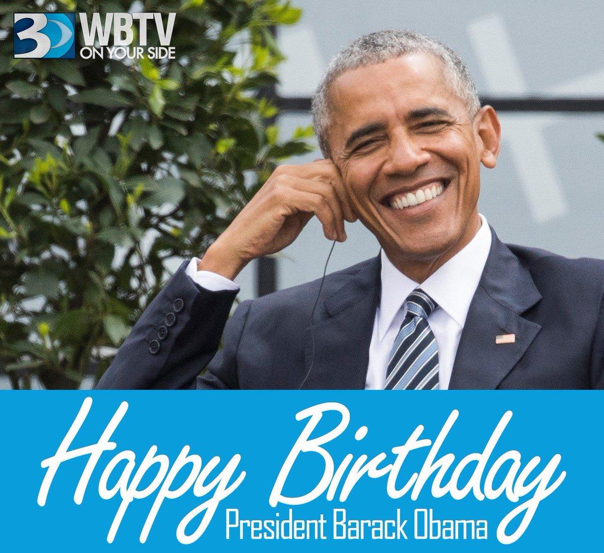 Wbtv News Auf Twitter Happy 57th Birthday To Former President Barack Obama