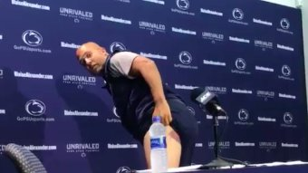 James Franklin Shows Off His Big Purple Paintball Ass Bruise To The Media