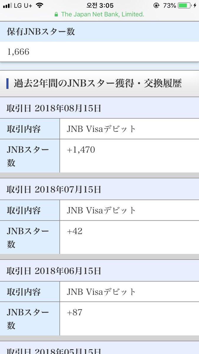 test ツイッターメディア - わたしジャパンネット銀行のデビットカード使ってて、500円で1ポイントくれるやつ今月1470ポイントもらったんだけど、単純計算で先月73万円使っててビビる🤢 https://t.co/sj1IH29K3K