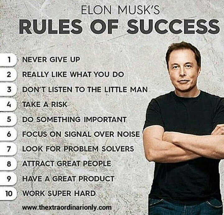 Image result for elon musk 10 rules
