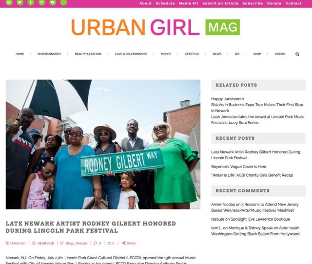Chk It Out Urbangirlmag Com Blog Late Newark Artist Rodney Gilbert Honored During Lincoln Park Festival Pic Twitter Com Mqygvldyc