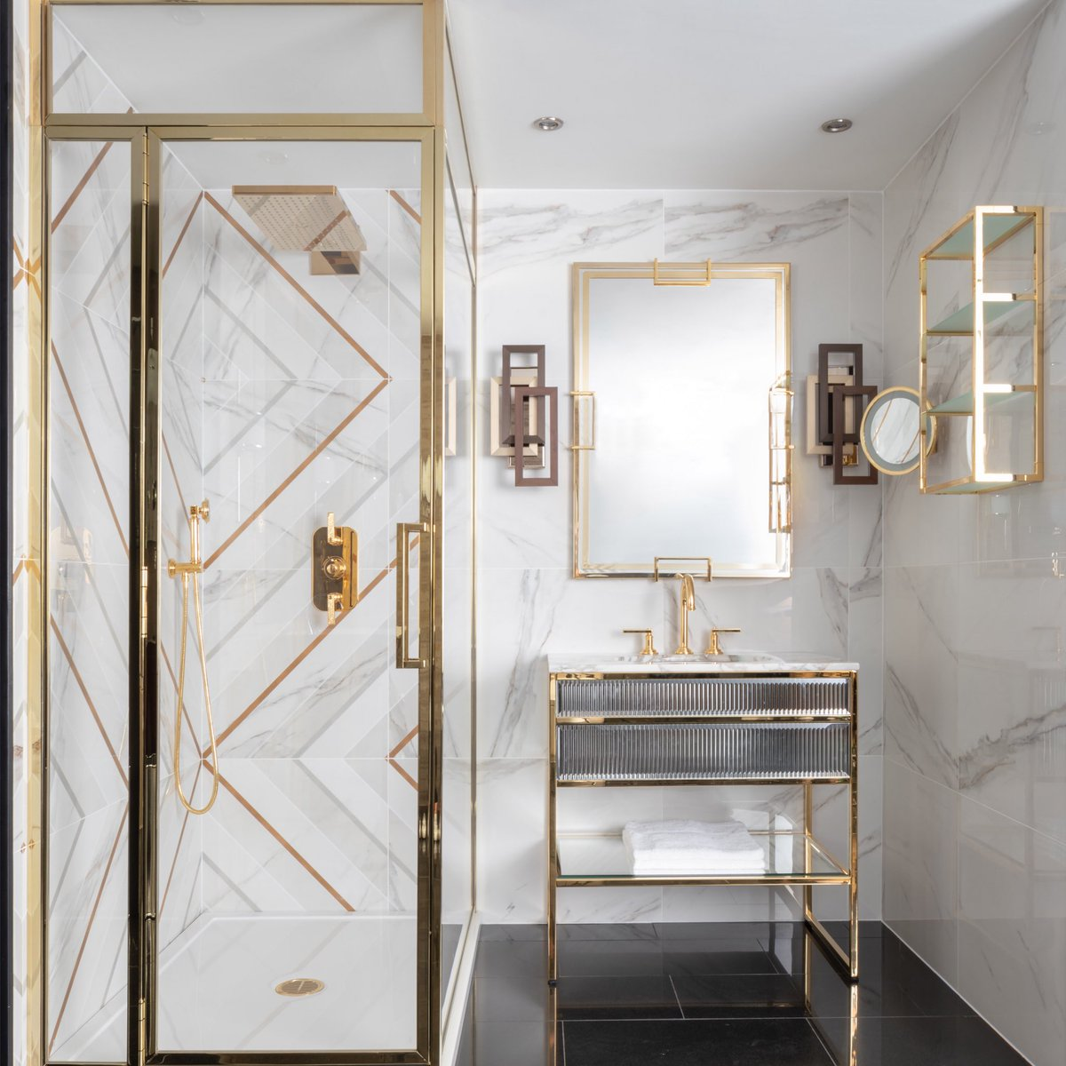 gold accents statement tiles