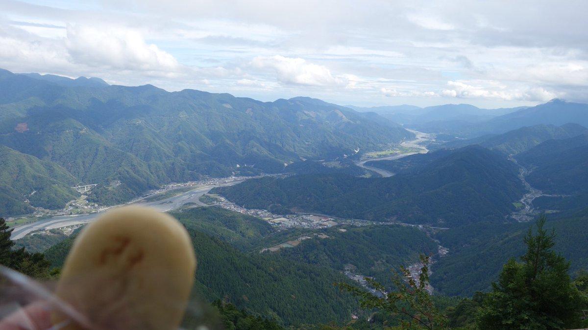 test ツイッターメディア - 山頂からの景色を楽しみながらみのぶまんじゅうを食う( ˘ω˘ ) https://t.co/6fuesDN3oo