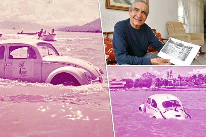 """mural.com on Twitter: """"Era la tarde del 8 de septiembre de 1968 y un  Volkswagen sedán, un vocho modificado, cruzó el lago de Chapala sin  complicaciones desde San Luis Soyatlán hasta Ajijic,"""