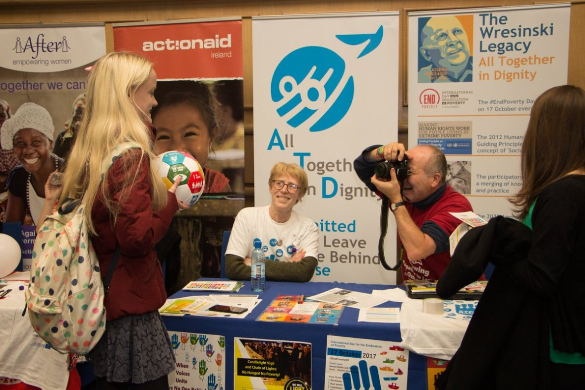 Volunteering is a powerful force in implementing #SDGs & #LeaveNoOneBehind! Come along to @Irish_Aid Volunteering Fair this Sat 29 Sept to learn more about how you can #TransformOurWorld! ATD will be one of the 30 NGOs presenting #VolOps! #Act4SDGs #Ireland4SDGs  #IrishAidVolFair