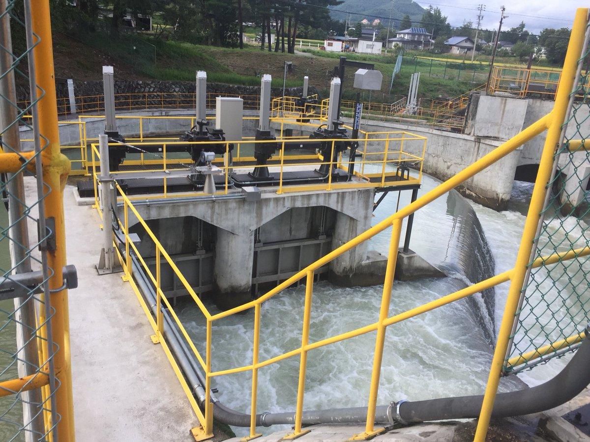 test ツイッターメディア - 市内に3つの発電所をもつ、昭和電工さんの水路センターにおじゃましました✨ 発電所に使う水量を制御をする施設なのだそう😌 脇を流れる高瀬川も、施設内の水の流れも迫力の流れΣ( ̄。 ̄ノ)ノ 氷河のあるカクネ里からの流れもこちらへ流れてくるそっです♪( ´▽`) https://t.co/doMVGvPqOE