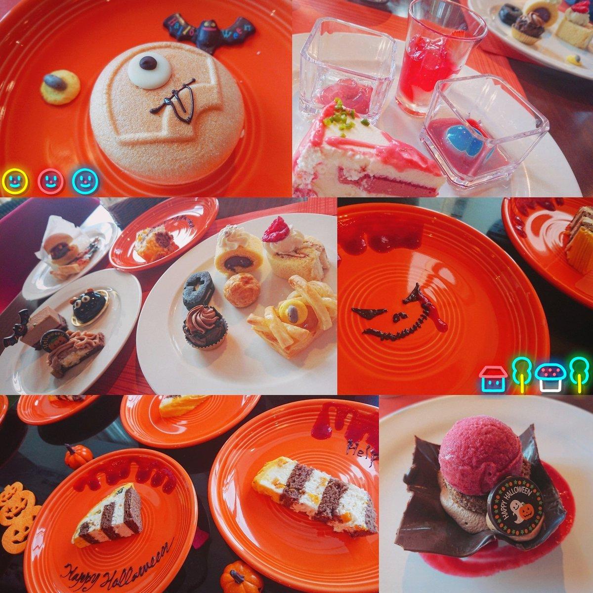 test ツイッターメディア - 今日はシェラトン都ホテル大阪のトップオブミヤコで『👻Halloween buffet🎃』 飾りも雰囲気も可愛すぎた💋💗 何より種類が多い🍴 全種類食べれんかった…無念😇 まぁいっぱい食べれたし満足🌿 とりあえず幸せやった!! https://t.co/T9k4LkLobL